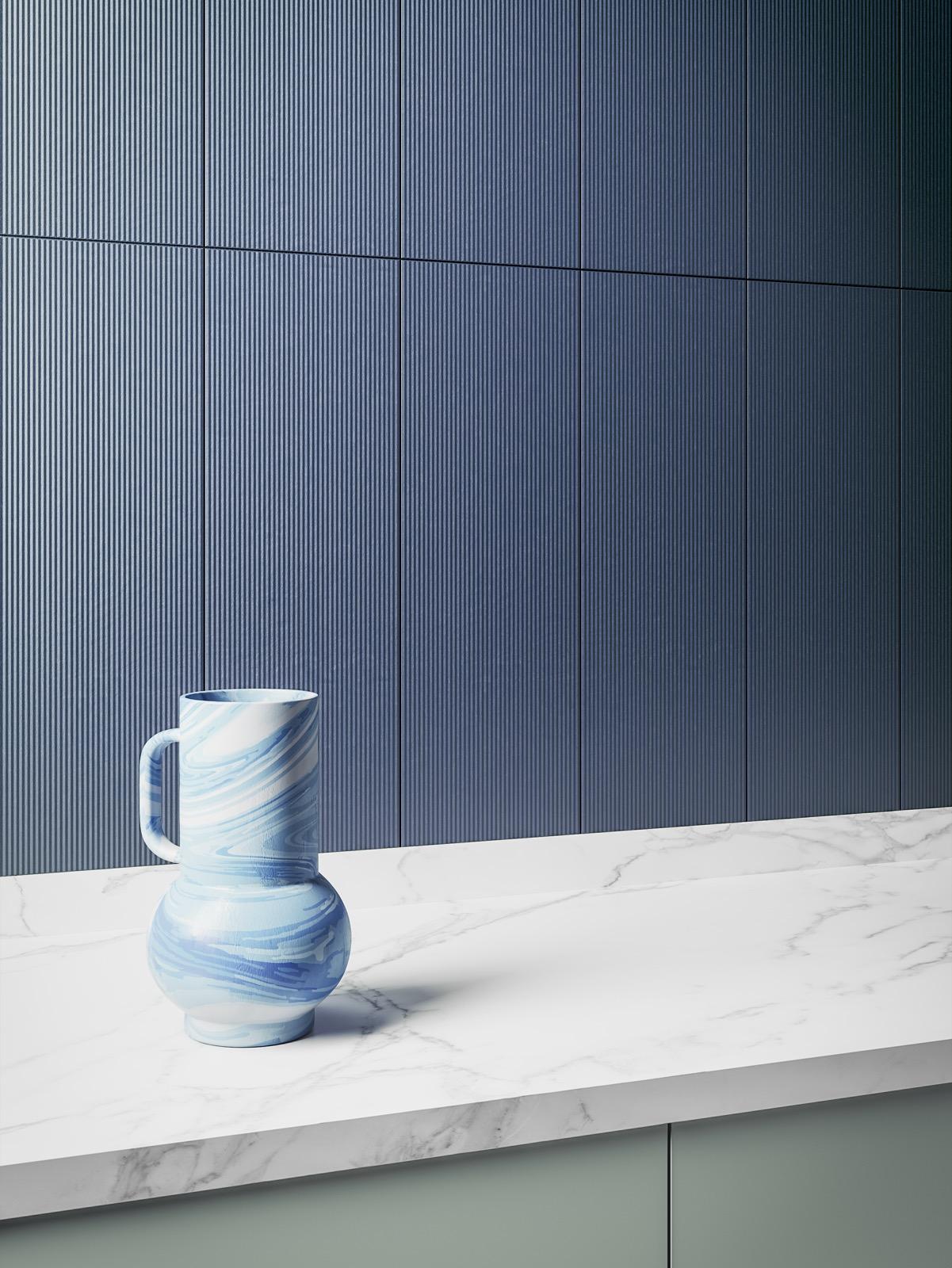 Ombra blue artisan tile